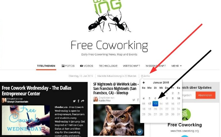 Free Cowo Archive with Calendar